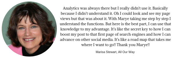 Testimonial from Marisa Stewart of All Our Way