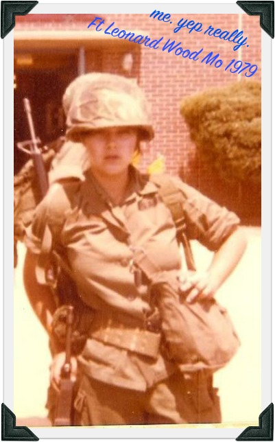 image of female soldier in utility uniform