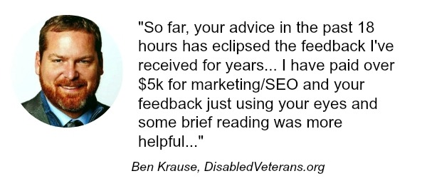 testimonial with the image of ben krause