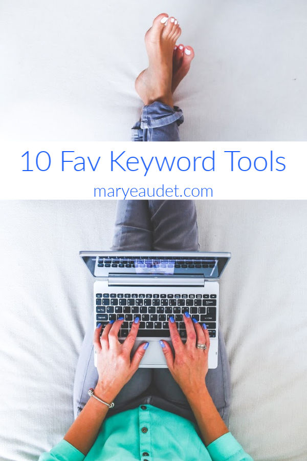 woman on laptop looking at keyword tools